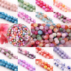 Lots 30/40/50Pcs Czech Glasses Round Loose Spacer Beads DIY Findings 6/8/10mm