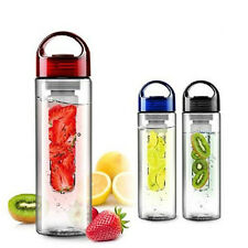 800ML Fruit Infusion Infusing Infuser Water Bottle Sports Health Maker Flip Lid