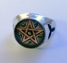 Alchemy Gothic Ring Wealth Talisman Pentagram Größe: W (24/64)