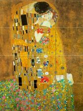 Mural Ceramic Kiss Klimt Decor Backsplash Bath Tile #33