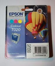Genuino, originale EPSON T020 COLORE CARTUCCIA INCHIOSTRO PER STYLUS 880-data ottobre 2011