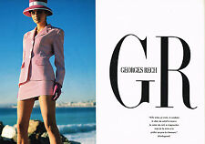 PUBLICITE ADVERTISING 064  1990  GEORGE RECH   haute couture ( 2 pages)