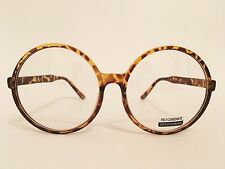 CLASSIC VINTAGE Style Clear Lens EYE GLASSES Large Round Tortoise Fashion Frame