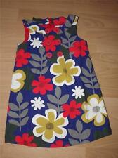 Brand New MINI BODEN Button Pinafore Cord Dress Age 4-5 In Navy Scandi Flower