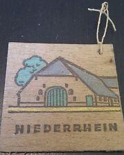 (No0446) German Winterhilfswerk WHW WW2 wooden pendant NIEDERSACHSEN