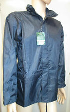 "Mens Wind & Waterproof  Jacket with Hood - Medium - 40"" chest - Navy Blue -"