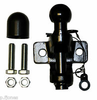 Universal Jaw Pin Towball Coupling Black - Free Bolts And Cover