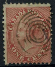 Canada 1859 SG#29, 1c Pale Rose QV Used #D37287