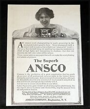 1912 OLD MAGAZINE PRINT AD, THE SUPERB ANSCO CAMERA, TWENTY STYLES, $2 TO $55!