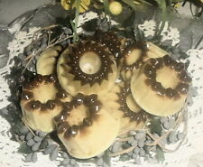 12 BROWN SUGAR & CINNAMON Wax Tarts Candle Wax Melts Scented Prim Bundt Cakes