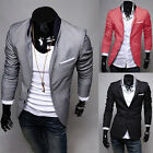 New Stylish Men Casual Slim Fit Two Button Suit Blazer Coat Jacket Tops outwear