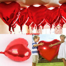 10 Love Heart Foil Helium Balloons Valentines Day Wedding Party Engagement Decor