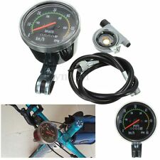 Resettable Speedometer Odometer Gauges Analog Classic Style For Bike Exercycle