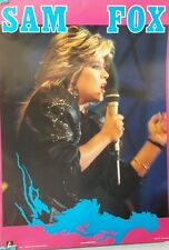 Sam/Samantha Fox Imported Poster- Singing- FREE S&H-UNUSED ROLLED!