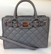 BNWT Michael Kors Hamilton Quilt Grey Leather Bag Tote RRP £350