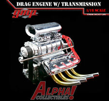 IN STOCK GMP 18840 1:18 BLOWN 426 DRAG ENGINE AND TRANSMISSION