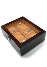 Hand crafted Wooden Watch Storage Display Box Case Organiser 8 Grids (WD8)