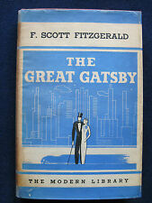 THE GREAT GATSBY by F. SCOTT FITZGERALD 1st Edition, Thus MODERN LIBRARY EDITION