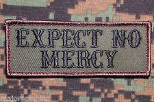 EXPECT NO MERCY USA ARMY BADGE ISAF FOREST VELCRO® BRAND FASTENER MORALE PATCH