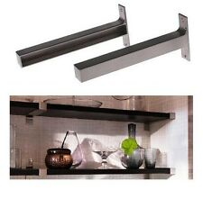 "Ikea EKBY BJARNUM 7 1/2 "" Pair of Aluminum Brackets for Floating shelf Set of 2"