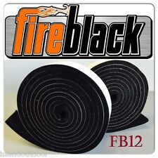Fireblack® 1/2 x 1/8 Black Hi Temp BBQ smoker Gasket Self Stick 15' w/ LavaLock®
