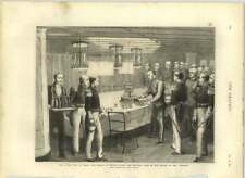 1875 Prince Of Wales Cutting His Birthday Cake In The Saloon Of The Serapis