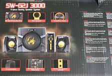 GENIUS SW G2.1-3000 Lautsprechersystem mit Subwoofer 70 WATT