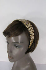 New Women Animal Print Leopard Head Band Trendy Fashion Jewelry Wide Beige Brown
