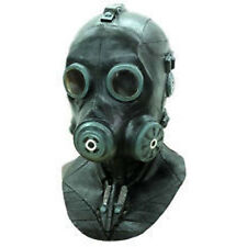 Deluxe Black Smoke Full Head Latex Gasmask Adult Halloween Costume Mask