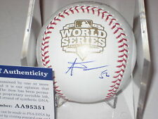 ANDRES TORRES (Giants) Signed Official 2012 WORLD SERIES Baseball w/ PSA COA