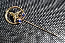 Mercedes Benz Anstecknadel 40 Jahre Arbeit 585 Gold 2 Steine alt+original