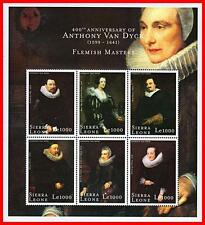 VAN DYCK PAINTINGS mnh ** COLLECTION of 1 SET +  9 S/S + 8 M/S CV$89.00