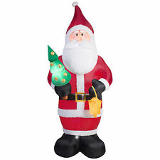 9.5 Ft Old World Santa Airblown Inflatables Projection Kaleidoscope Christmas
