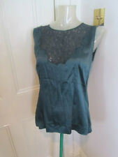 Dolce & Gabbana Green silk top sz 48/UK 16