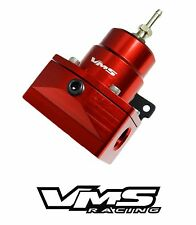 RED VMS RACING PRO SERIES ADJUSTABLE FUEL PRESSURE REGULATOR FOR FORD MUSTANG