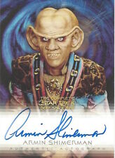 COMPLETE STAR TREK DEEP SPACE NINE DS9 AUTOGRAPH A4 Armin Shimerman as Quark