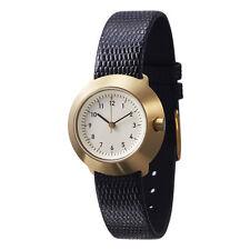 """Normal Timepieces """"Fuji"""" Quarzo Acciaio Oro Bianco Pelle Nero Orologio Donna"""