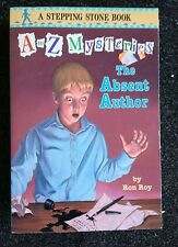 The Absent Author by Ron Roy A to Z Mysteries A Stepping Stone Book Free Ship PB