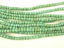"""26"""" strand lovely turquoise Czech glass seed trade beads African tribal AA-0038"""