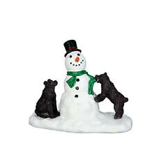 LEMAX CHRISTMAS VILLAGE ACCESSORIES - CURIOUS CUBS / SNOWMAN & BABY BEARS #62463