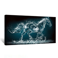 Grandi cavalli Abstract Animale tela 20x40 cm WALL ART PICTURE per qualsiasi stanza