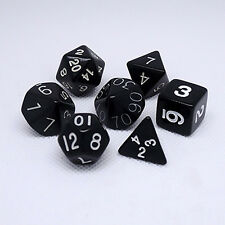 dungeons and dragons polyhedral role playing dice lot black 7pcs
