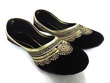 Us-6 Indian velvet Women flip flops mojri stylish punjabi jutti khussa shoes