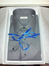 Brand New in Box Grey Cotton Shirt by Sefano Ricci Size 16 inch Collar