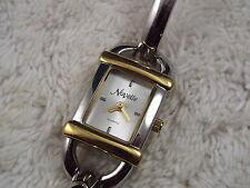 Women's NOVELLE Silvertone Goldtone Bracelet Watch (A20)