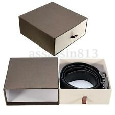 Wedding Gift Brown Jewelry Wallets Belt Accessory Thick Cardboard Paper Box