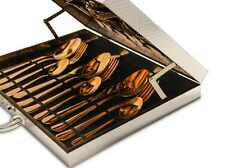 High-grade Flatware Set in Gift Box Rose Gold Stainless Steel Plated Dinnerware