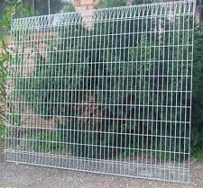 Fence Panels - ARC Acacia Fence Panels - 5mm Mesh - Galvanised - 2.4m W x 1.8m H