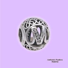Authentic PANDORA Letter M Alphabet Charm 791857CZ