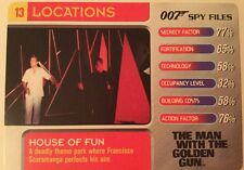 House Of Fun Man With Golden Gun #13 Locations - 007 James Bond Spy Files Card
